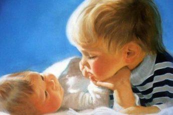 Трехлетний Максим и двухлетний Димка