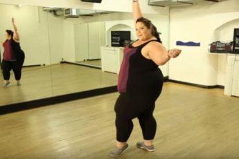 Эта танцовщица доказала многим, что она знает толк в танцах!