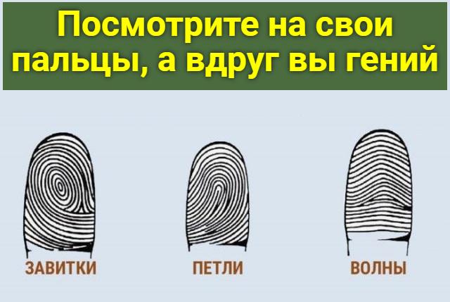 Тест по отпечаткам пальцев