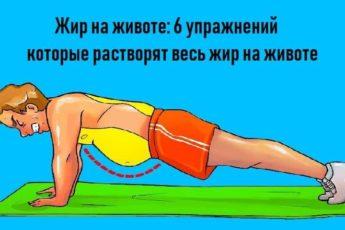 Жир на животе: упражнения которые растворят весь жир на животе