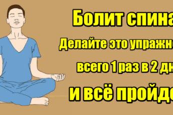 Болит спина? Делайте это упражнение 1 раз в 2 дня и все пройдет!