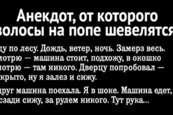 Анекдот, От Которого Волосы На Попе Шевелятся!
