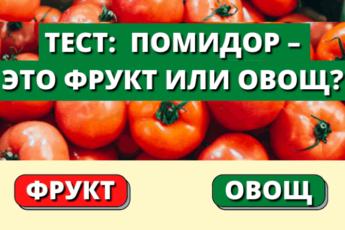 Тест: Как хорошо вы разбираетесь во фруктах и овощах?